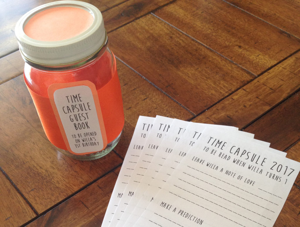Baby Shower Time Capsule – Free Printable