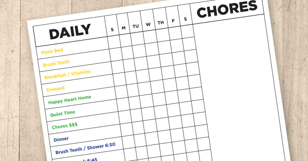 Reward Chart for the ADHD Child – FREE Printable / Editable Download!